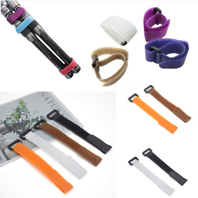 10Pcs Reusable Fishing Rod Tie Holder Strap Fastener Ties Fishing Accessories S5