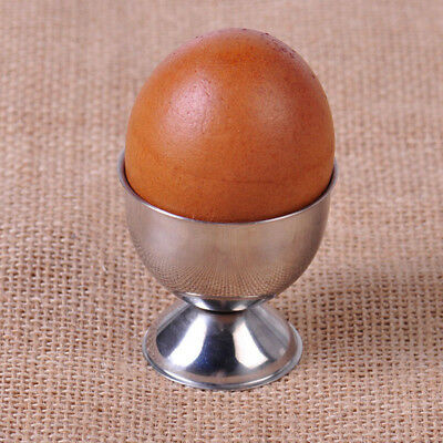 Stainless Steel  Boiled Egg Cup/Holder/Stand Set Blue Oven Safe Tableware BS