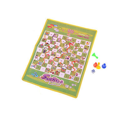 Non-woven Foldable Flying Chess Snake Chess Ladder Toy Family Board Game JR