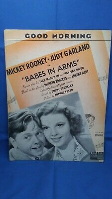 Babes In Arms Good Morning Judy Garland Mickey Rooney 1939 Sheet Music Chappell