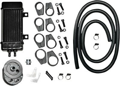Jagg Wideline Frame-Mounted 10-Row Oil Cooler System Chrome Sided #750-2080