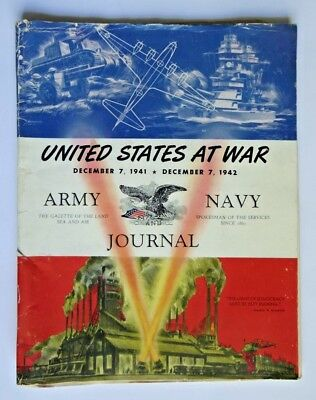 Vintage 1942 United States at War Army and Navy Journal