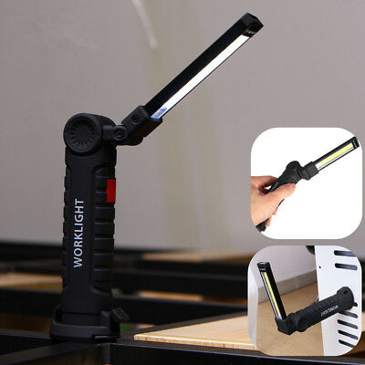 Multifunction USB Rechargeable COB LED Work Light Flashlight Magnetic Torch