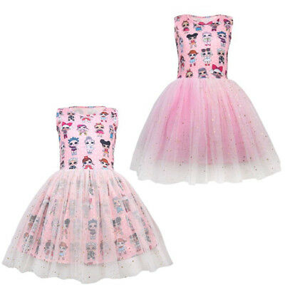 Girl Lol Surprise Doll Princess Dress Party Pageant Holiday Tutu Birthday Gift