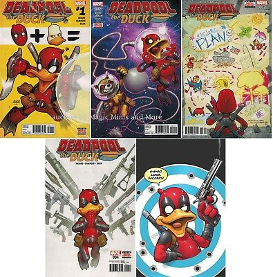 DEADPOOL THE DUCK comic (5) issue SET #1 2 3 4 5 Marvel 1st print lot