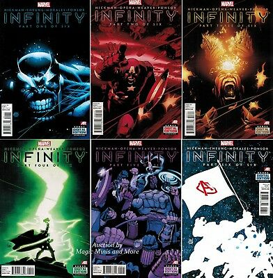 INFINITY (6) Comic SET #1 2 3 4 5 6 MARVEL NOW! 1st print Lot Thanos gauntlet