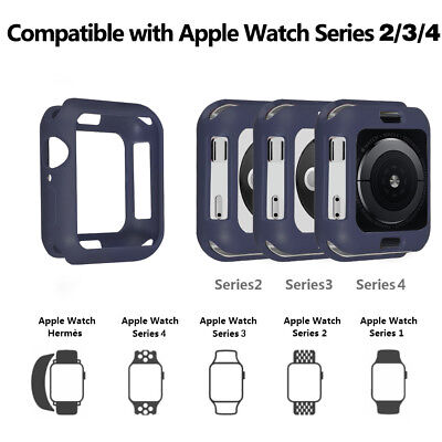 For Apple Watch 4 40/44mm Shockproof PC Armor Bumper iWatch Protect Case Cover
