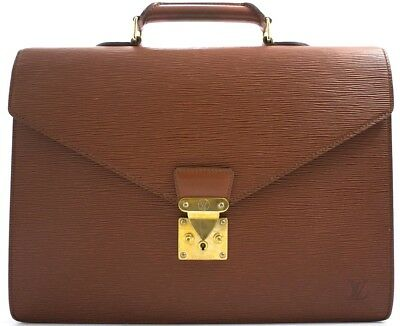 85b023a66eb87 Louis Vuitton Epi Serviette Robusto Tasche Briefcase Aktentasche Business  Bag