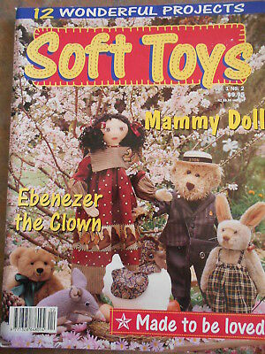 Soft Toys 12 Wonderful Projects Sewing  Book Master Pattern Uncut