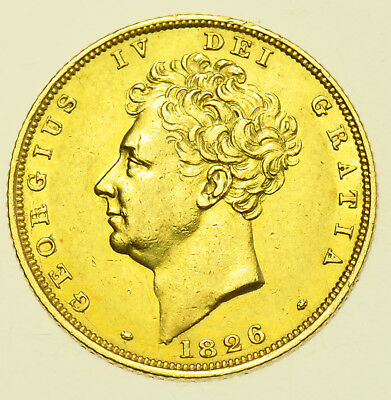 1826 Sovereign, British Gold Coin From George Iv Ef