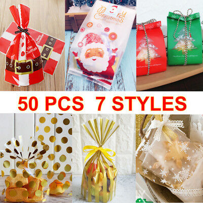2 X Clear Cello Cellophane Gift Christmas Sweet Party Loot
