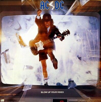 AC/DC 1988 Blow Up Your Video Original Promotional Poster