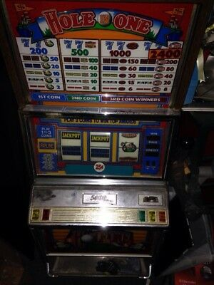 25 Cent SLOT MACHINE Hole-in-one Non Working Parts Only