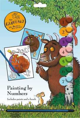 The Gruffalo Childrens Painting By Number PBN Craft Set Artist Pads Kids 3083