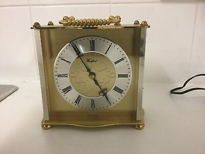 Stylish Woodford Brass Carriage Mantel Mantle Clock