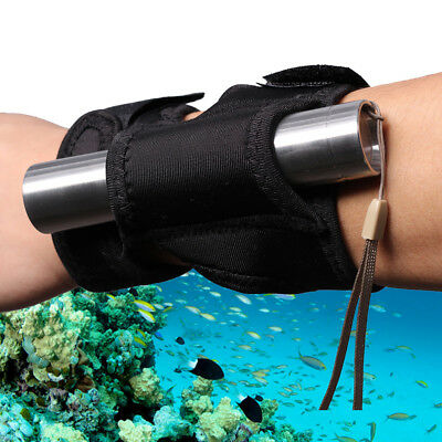 Flashlight Holster Wrist Arm Pouch Holder for Hunting Diving Underwater Torch