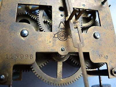 ANTIQUE German Wall Clock MOVEMENT DUFA PARTS RESTORE GUSTAV BECKER JUNGHANS