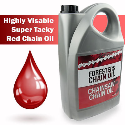 5 Litres SUPER TACKY Chainsaw Oil For Oil Pump Guide Bar For All Makes Of Saws