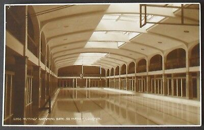 Hastings Swimming Baths,  Sussex  (RP)    Unposted  - 12004