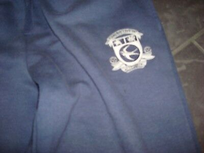 Cardiff City Fc Mens Size Medium Navy Blue Jogger Bottoms With Club Crest