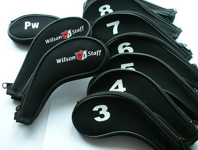 New Set of 11 x Wilson Iron Golf Club Head Covers 3,4,5,6,7,8,9,A,PW,SW,LW