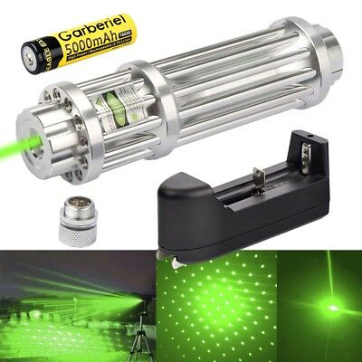 Power Military 532nm 1mW Green Laser Pointer Pen Visible Beam Light +Charger