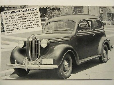 1938 PLYMOUTH 2-DOOR, Bryan Packard Motor Co., car dealership, Wellington, KS