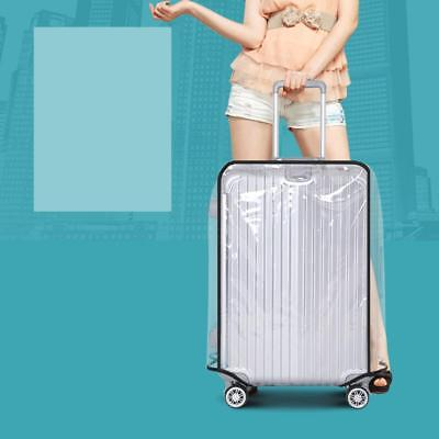18-30'' PVC Transparent Travel Luggage Cover Protector Dustproof Waterproof New