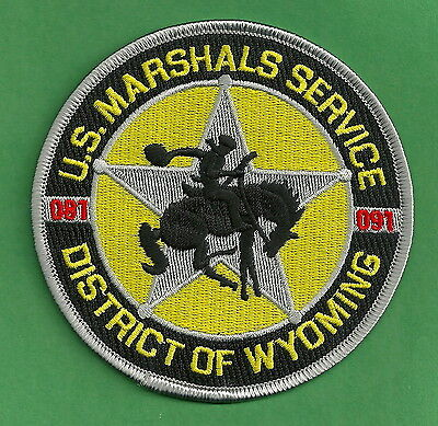 United States Marshal District Of Wyoming Police Patch