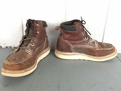 Red Wing Irish Setter Ashby Leather Work Safety BOOTS SIZE 9 Biker Rocker Boots