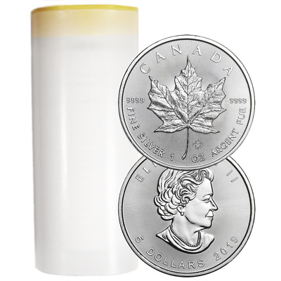 Lot of 25 - 2019 $5 Silver Canadian Maple Leaf 1 oz Brilliant Uncirculated Full