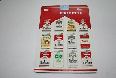 603R1-L14 Vintage 1980's Cigarette Pack Lighter Display 12 Lighters ManShack