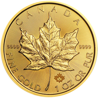 2019 $50 Gold Canadian Maple Leaf .9999 1 oz Brilliant Uncirculated