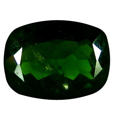 1.47 Ct AAA Marvelous Coussin Forme (8 X 6 mm) Vert Chrome Diopside
