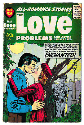 TRUE LOVE PROBLEMS 42 (1956) SCARCE Jack Kirby cover, Great art: VG 4.0