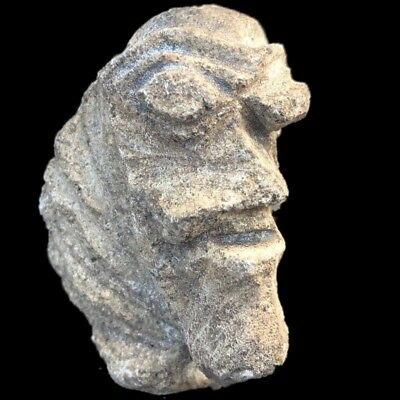 Ultra Rare Stone Age Ancient Neolithic Anthromorphic Vinca Bust, 4500Bc (1)
