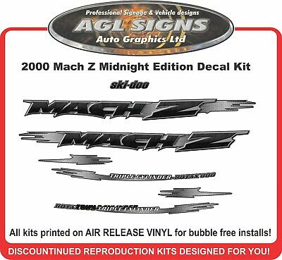 2000 ski-doo Mach Z 800 graphic kit   decals reproductions