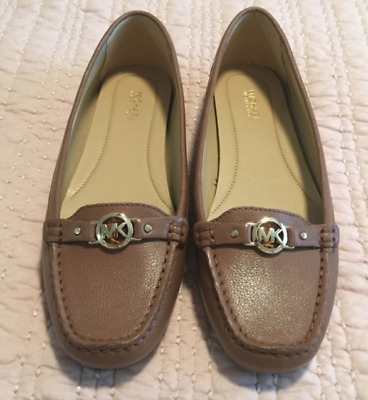 1d1829c26337 New Michael Kors May Moc Moccasin Leather flats Acorn Shoes Womens Brown
