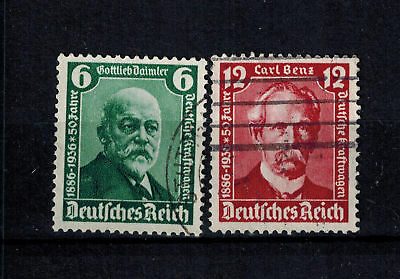 Briefmarken Deutsches  Reich 604 - 605 gestempelt  605 Wellenstempel