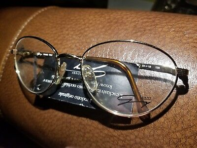 Genny Eyeglasses 559 5090 54/18/130 Made In Italy Gold Brown Tortoise