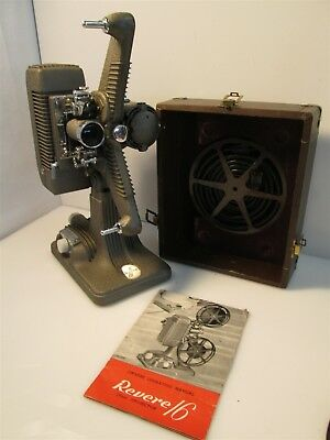Vintage Revere 96mm Model 48 Projector w/ Cord & Manual Tested Works