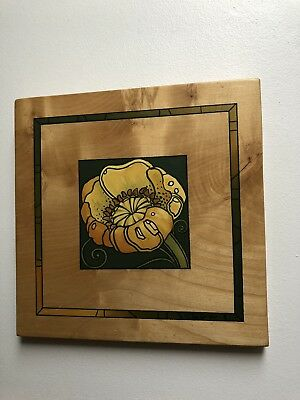 Hand Made Hand Painted On Wood Wall Plaque  Signed J Hunter 2000