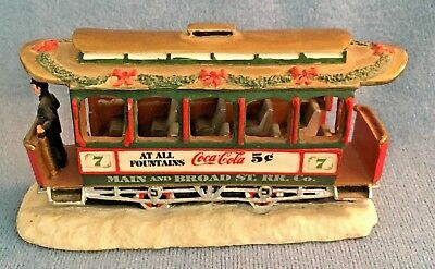 Coca Cola Town Square Collection Christmas Trolley #7 1993