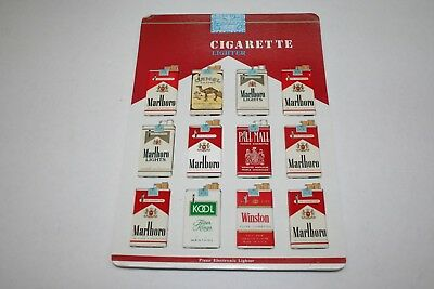 603R1-L20 Vintage 1980's Cigarette Pack Lighter Display 12 Lighters ManShack