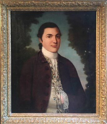 THE 18th CENTURY EUROPEAN ARISTOCRAT - FINE 1780'S OIL ON CANVAS ORIGINAL WORK