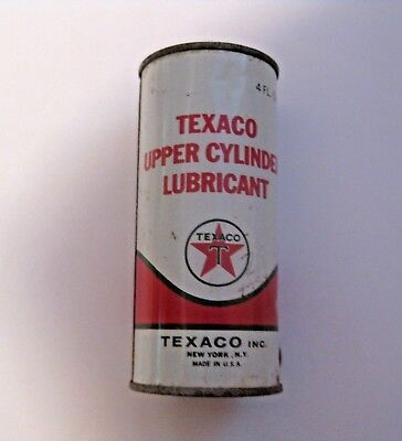 Rare Nos Vintage Texaco Upper Cylinder Oil Lubricant Advertising Can ~ Full Can