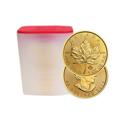 Lot of 100 - 2019 $50 Gold Canadian Maple Leaf .9999 1 oz Brilliant Uncirculated