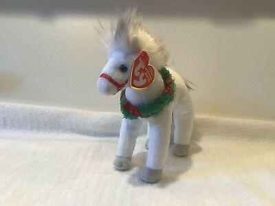 Ty Beanie Babies - SLEIGHRIDE the HOLIDAY HORSE - Plush 2007 MWMTs Retired
