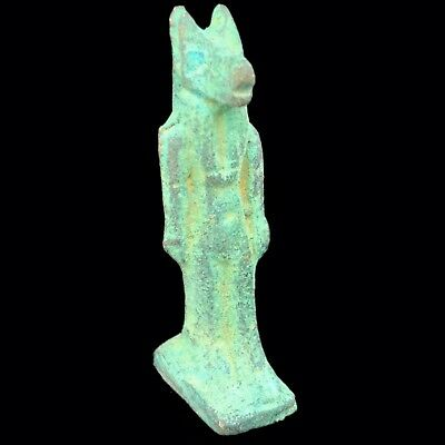 Beautiful Ancient Egyptian Bronze Statue 300 Bc (4)