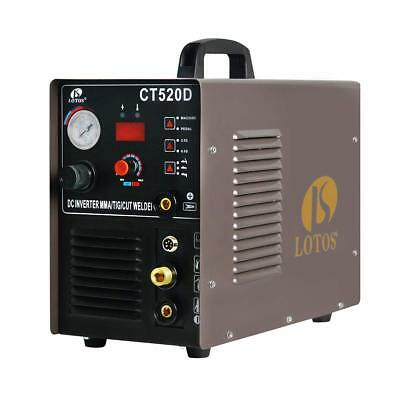 Plasma Cutter & DC TIG/ DC Stick Welder 3 in 1 Lotos CT520D Multi Process Welder